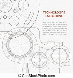 Shaft sketch with chamfers. engineering drawing. Sketch of