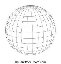 wireframe sphere vector clipart