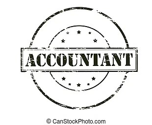 Illustration of an accountant at work.
