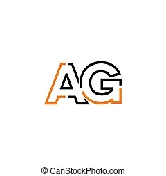 Ag letter logo icon design template elements. Letter logo