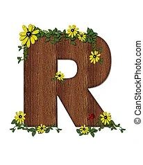 alphabet sunflower isolated