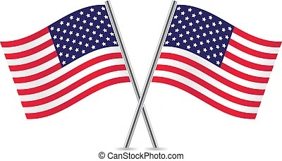 american flags illustrations and
