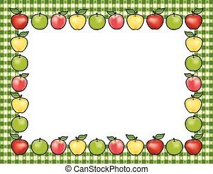 apple frame. border illustration