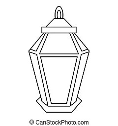 Outline of arabic lantern. ramadan lantern. the muslim