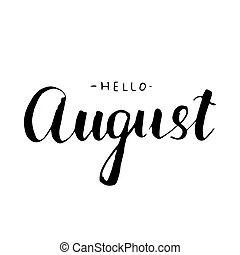 Hello august Clip Art Vector Graphics. 445 Hello august