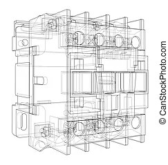 Circuit breaker Illustrations and Clipart. 423 Circuit