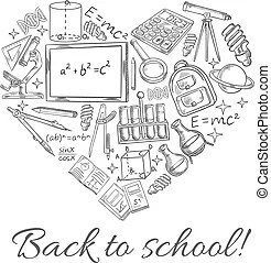 Back to school sketch vector timetable schedule. School