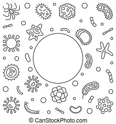 Bacterium and bacteria or viruses and bacterial