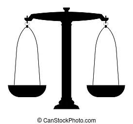 Balance icon isolated on white.