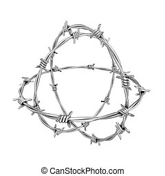 Barbed wire Illustrations and Clip Art. 2,582 Barbed wire