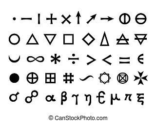 Basic mathematical symbols. vector illustration. Basic