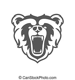 Bears football team design with muscular mascot for school