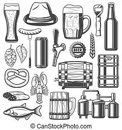 Production line icons. Production line industrial factory