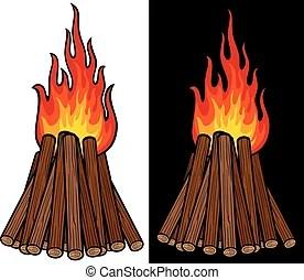 bonfire night vector clip art royalty