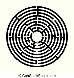 Labyrinth, maze for kids. entry and exit. children puzzle