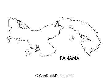 Outline panama map. Administrative divisions of panama.