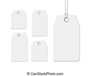 Blank labels template price tags set vector.