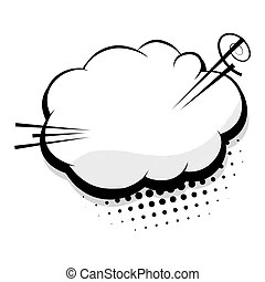 Blank comic cloud over white background. vector illustration.