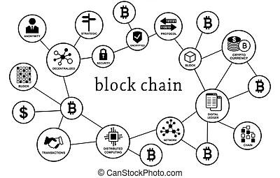 Network block diagram. colorful vector icon. simple retro