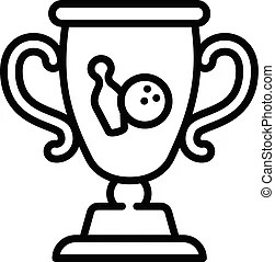Trophy cup icon, outline style. Trophy cup icon. outline