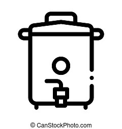 Sieve sifting equipment icon vector outline illustration
