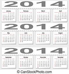 Calendar 2014. 2014, calendar.