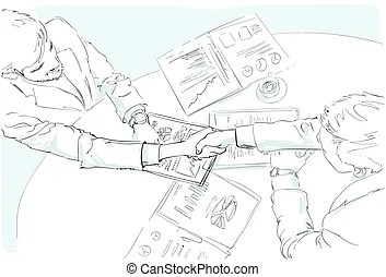Handshake & signed documents: contract negotiation