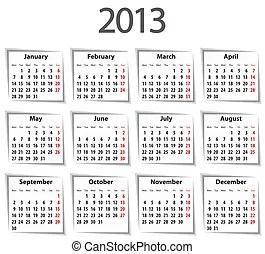 Spanish calendar for 2014. mondays first. bold digits