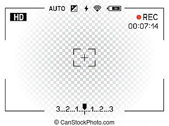 Camera viewfinder rec background. Camera viewfinder. template focusing screen of the camera