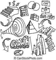 Clipart Vector of Business Financial Accounting Drawing