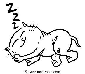 Cat Nap Clip Art