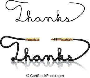 Audio jack cable Vector Clipart Illustrations. 536 Audio