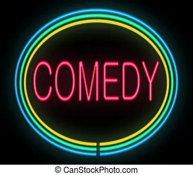 Image result for COMEDY SIGN