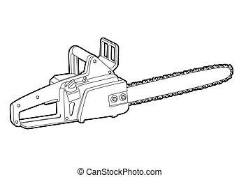 Chainsaw Stock Illustration Images. 1,437 Chainsaw