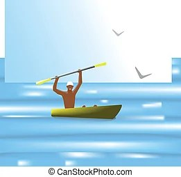 boatman clip art vector and illustration