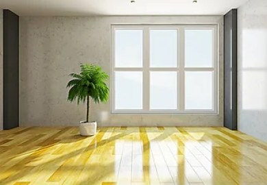 Empty Room With Window And Door Courts At Fairfield