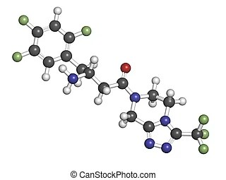 Drawings of Pioglitazone diabetes drug, chemical structure