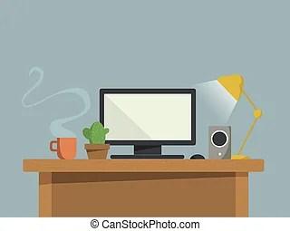 desk light clip art vector