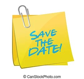 save date vector clipart eps