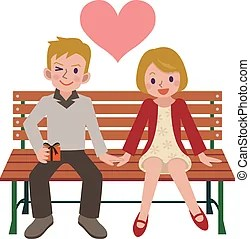 happy couple clip art vector graphics