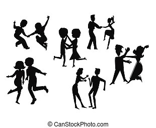 Clipart Vector of dance variety in silhouette csp18466758