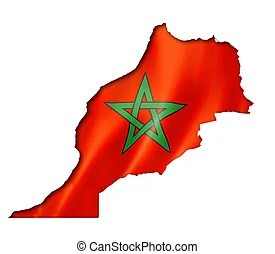moroccan flag clipart and stock
