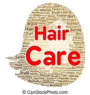 hair care illustrations and clipart