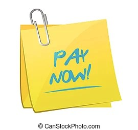 Pay Now Stock Illustration Images 3,835 Pay Now