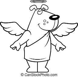 Angel animal cartoon dog halo happy holy illustration pet