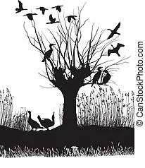 Flock Stock Illustrations. 4,337 Flock clip art images and