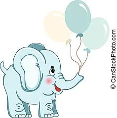 blue elephant clip art vector graphics