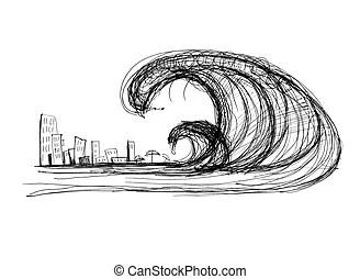 Tsunami Illustrations and Clipart. 1,582 Tsunami royalty