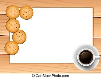vectors of tea coffee cookies