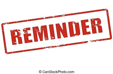 vector clipart of reminder - stamp